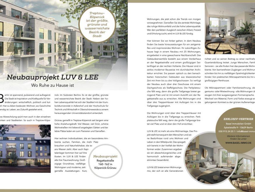 Basel Immobilien: Neubauprojekt LUV & LEE - Exklusiv Magazin